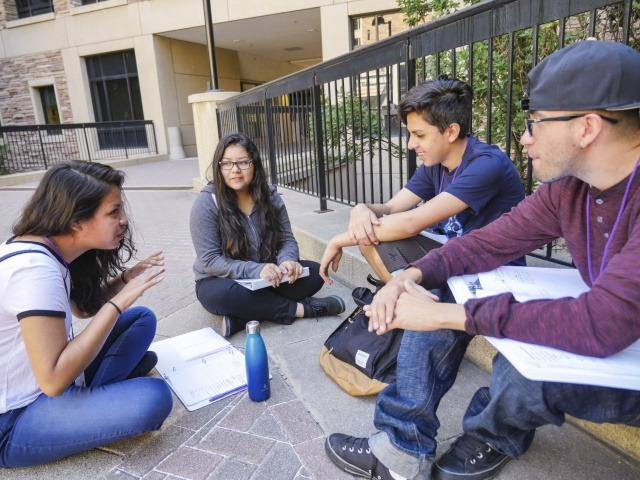 Aquetza, which received outreach funding, is a summer enrichment program for Colorado Chican@/Latin@ students. Photo by Glenn Asakawa