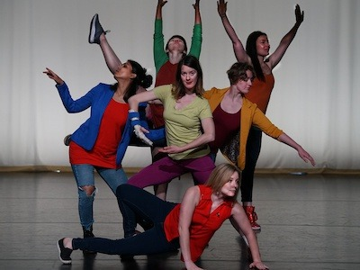 CU Contemporary Dance Works rehearsing for the dance tour in Paonia. Photo by Gretchen LaBorwit
