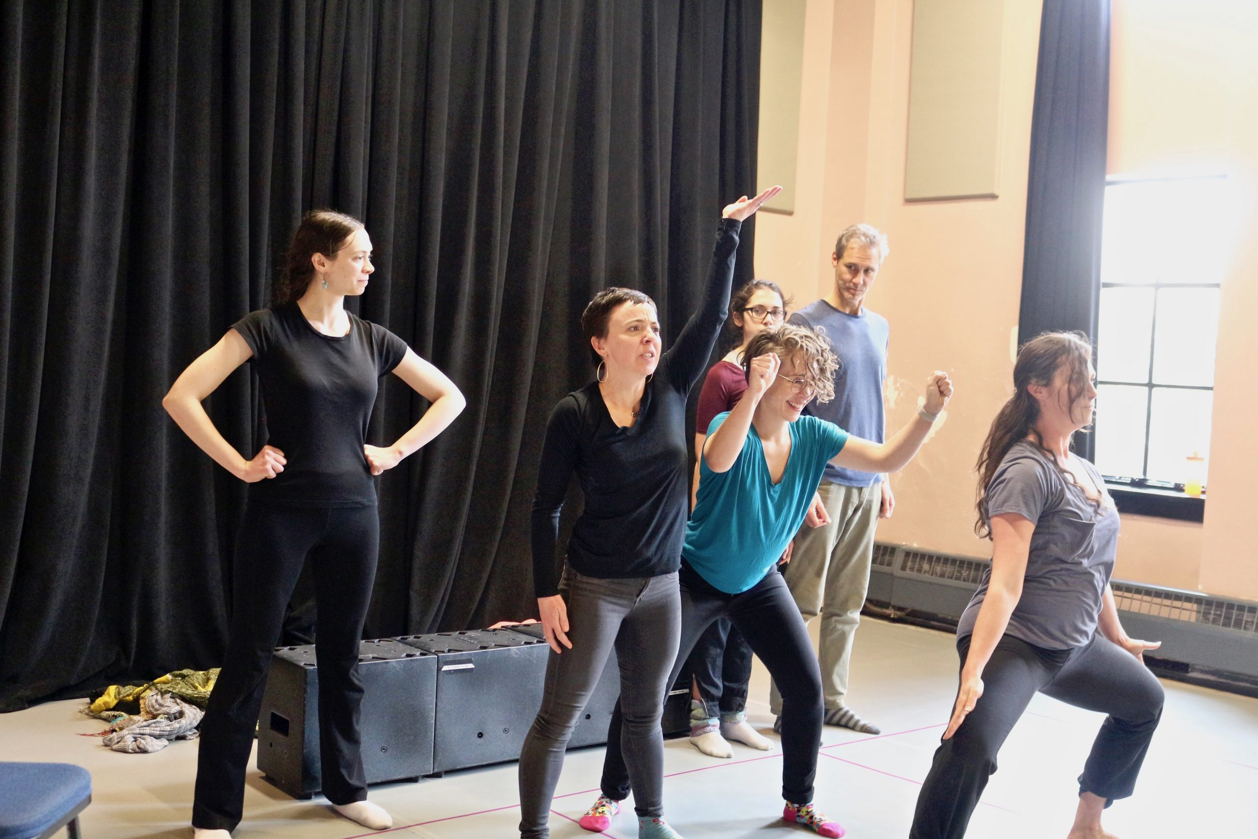 CU Boulder Playback Ensemble rehearses for workshops in Paonia that will be held from January 8 to 11. (Photo by Sue Postema Scheeres, CU Boulder)