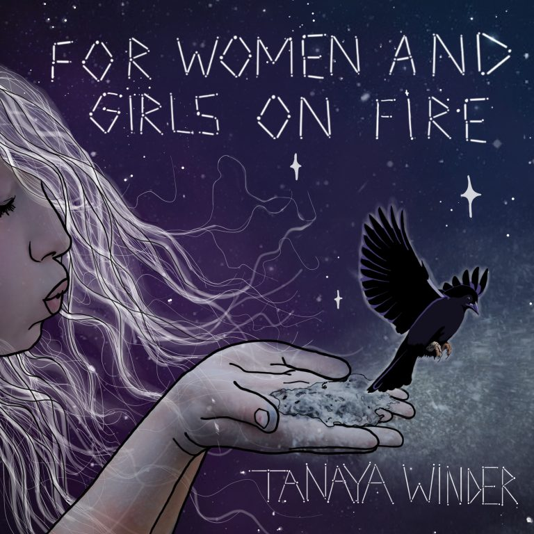 Tanaya Winder's album cover featuring an illustration of a girl letting a bird go.