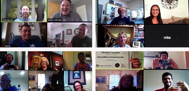 A screenshot of attendees at a Zoom workshop