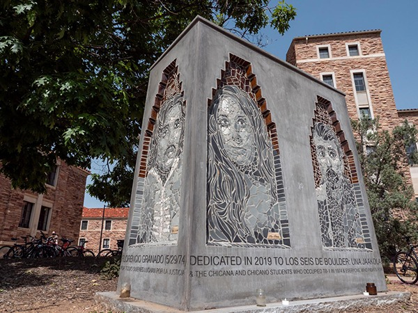 The Los Seis Memorial sculpture