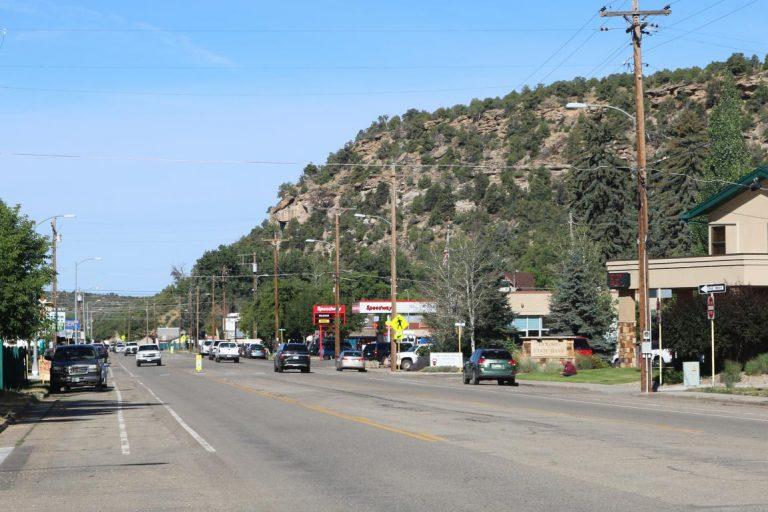 Railroad Avenue in Dolores, Colorado.