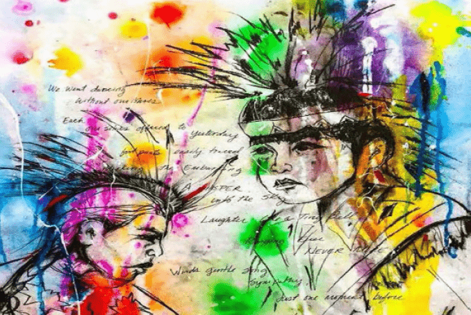 Painted portraits of Native Americans featured on the cover of the Tribal Implementation Toolkit. Artwork used with the permission of Joni Sarah White